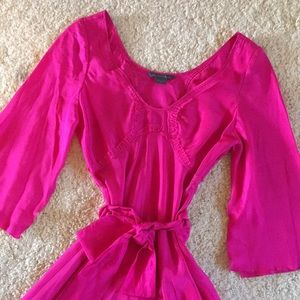 Armani Exchange hot pink silk dress size 0